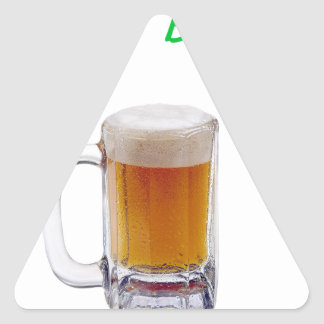Cervecero casero pegatina triangular