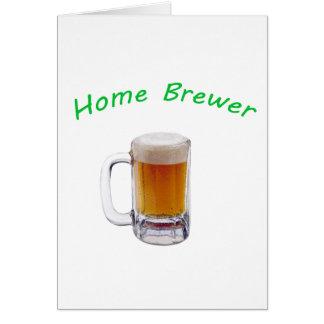 Cervecero casero tarjeta de felicitación