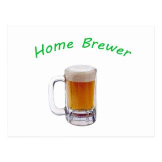 Cervecero casero tarjetas postales