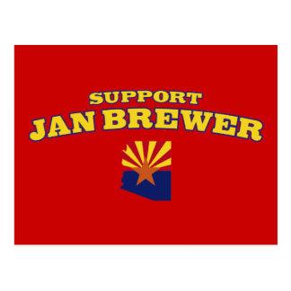 Cervecero de enero de la ayuda tarjetas postales