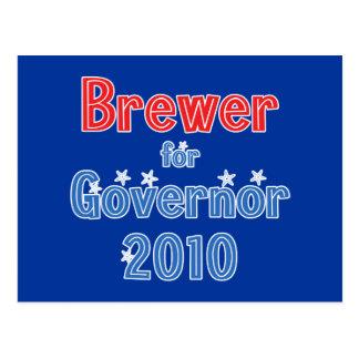 Cervecero de enero para el diseño de la estrella postales