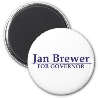 Cervecero de enero para el gobernador imán de frigorífico