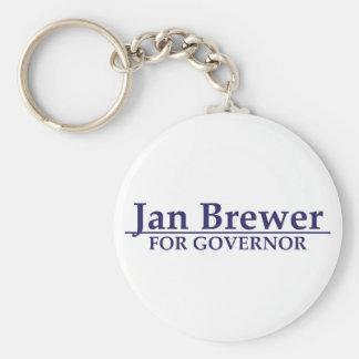 Cervecero de enero para el gobernador llavero redondo tipo pin