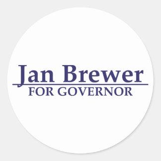 Cervecero de enero para el gobernador etiquetas redondas