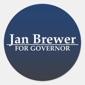 Cervecero de enero para el gobernador pegatina redonda