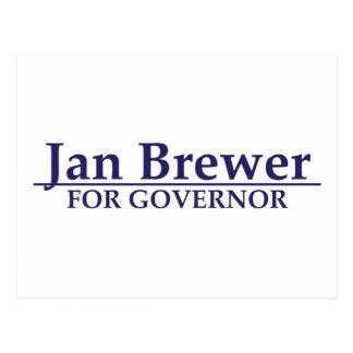 Cervecero de enero para el gobernador tarjetas postales