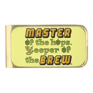 Cervecero de la cerveza del brew casero clip para billetes dorado