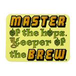 Cervecero de la cerveza del brew casero imanes rectangulares
