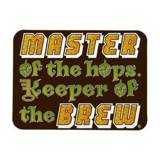 Cervecero de la cerveza del brew casero iman rectangular