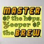 Cervecero de la cerveza del brew casero poster
