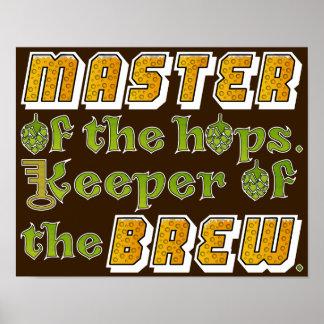 Cervecero de la cerveza del brew casero póster