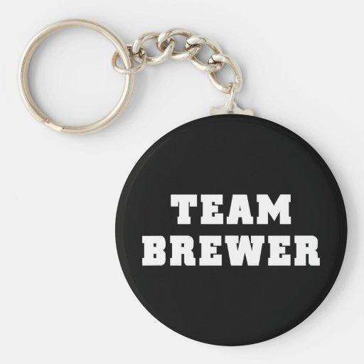 Cervecero del equipo llavero personalizado