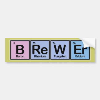 Cervecero hecho de elementos etiqueta de parachoque
