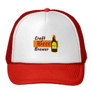 Cervecero, naranja y amarillo de la cerveza del gorra