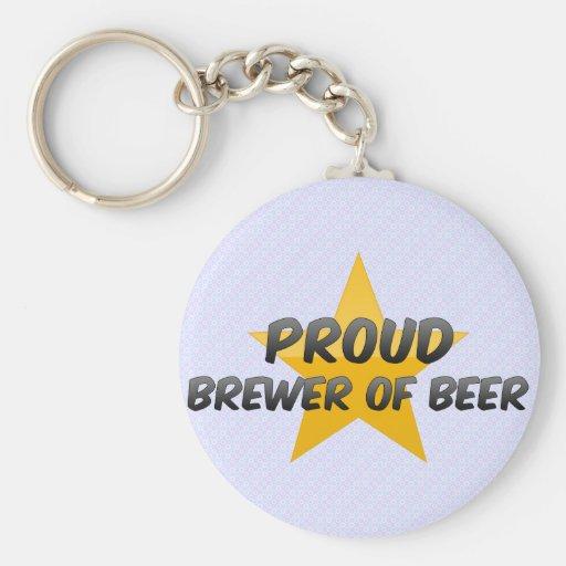 Cervecero orgulloso de la cerveza llaveros