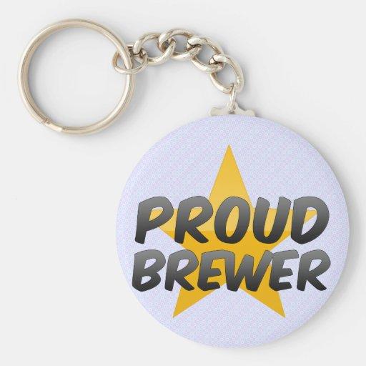 Cervecero orgulloso llaveros personalizados