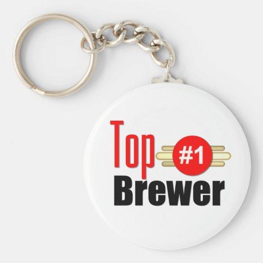 Cervecero superior llaveros personalizados