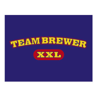 Cervecero XXL del equipo Postales