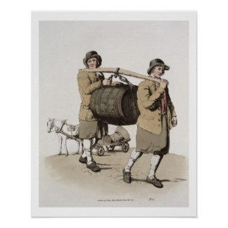 """Cerveceros, del """"traje de Gran Bretaña"""" publicada Póster"""