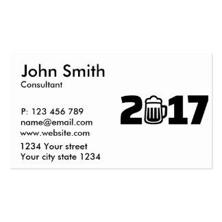 cerveza 2017 tarjetas de visita