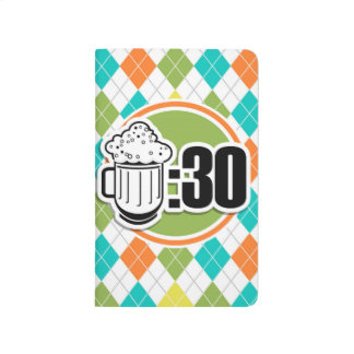 Cerveza: 30 en el modelo colorido de Argyle Cuaderno Grapado