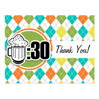 Cerveza: 30 en el modelo colorido de Argyle Postal