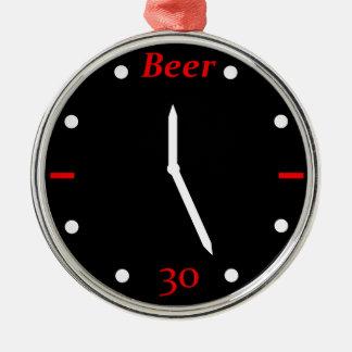 CERVEZA 30 - Reloj Adorno Navideño Redondo De Metal