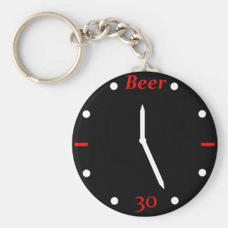 CERVEZA 30 - Reloj Llavero Redondo Tipo Pin