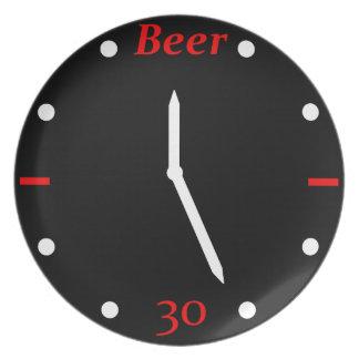 CERVEZA 30 - Reloj Plato Para Fiesta