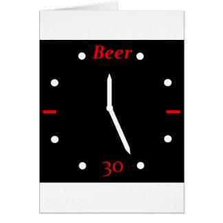 CERVEZA 30 - Reloj Tarjetón
