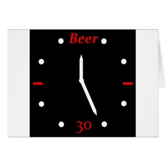 CERVEZA 30 - Reloj Felicitacion