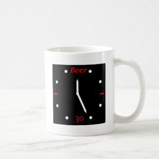 CERVEZA 30 - Reloj Taza Básica Blanca