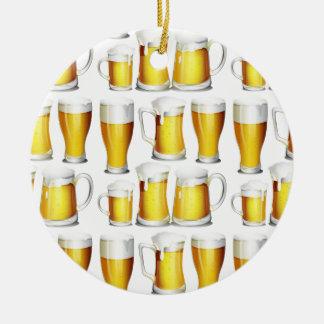 Cerveza Adorno Navideño Redondo De Cerámica