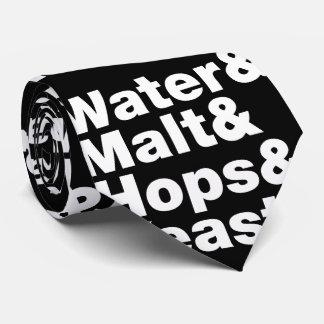 Cerveza = agua y malta y saltos y levadura corbatas personalizadas