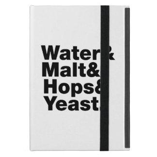 Cerveza = agua y malta y saltos y levadura iPad mini cobertura