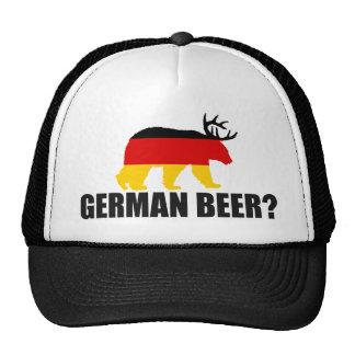 ¿Cerveza alemana?  Oso de la bandera de Alemania Gorra