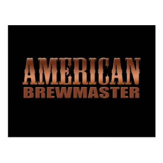 cerveza americana del cervecero del hogar del postal