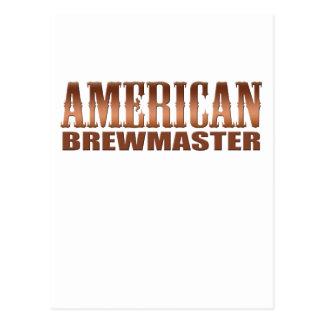 cerveza americana del cervecero del hogar del tarjeta postal