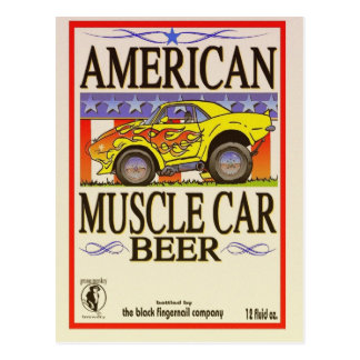 cerveza americana del coche del músculo postal