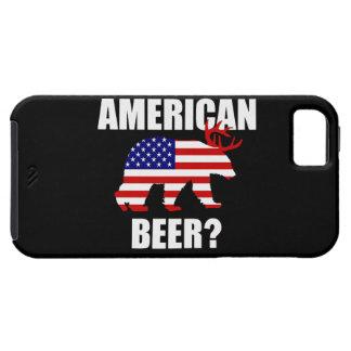 ¿Cerveza americana divertida?  LOS E.E.U.U. Caso iPhone 5 Cárcasa