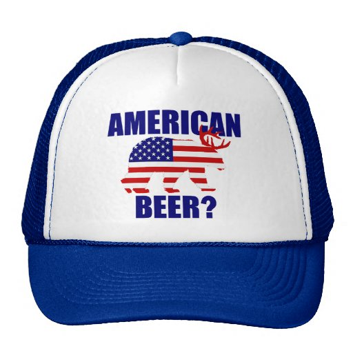 ¿Cerveza americana?  Gorra de los ciervos del oso