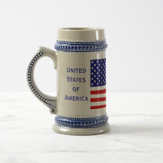 Cerveza americana Stein de la bandera del Jarra De Cerveza