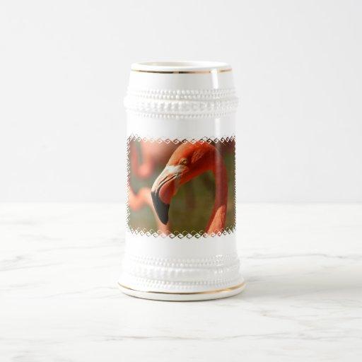 Cerveza americana Stein del flamenco Tazas De Café