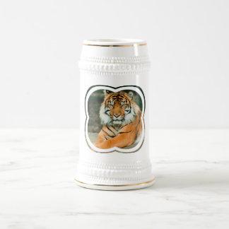 Cerveza anaranjada Stein del tigre Taza