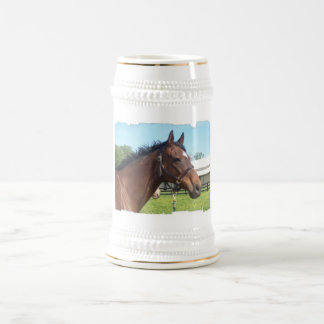 Cerveza árabe alerta Stein del caballo Jarra De Cerveza
