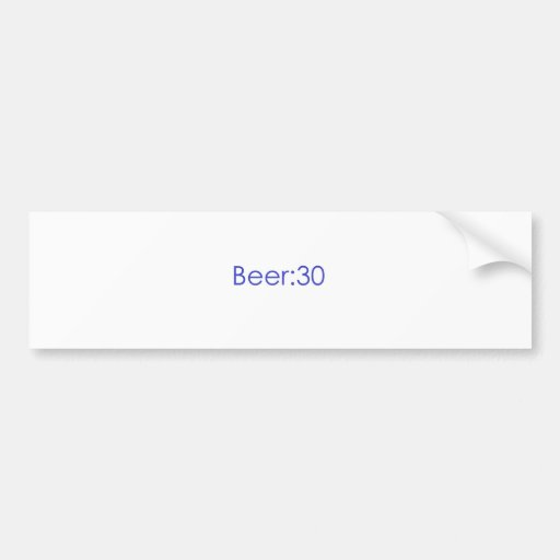 Cerveza: Azul 30 Pegatina De Parachoque