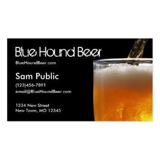 Cerveza azul del perro tarjetas de visita