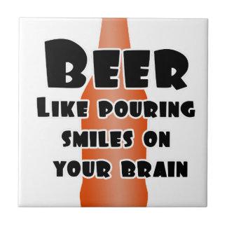 Cerveza Azulejo Cuadrado Pequeño
