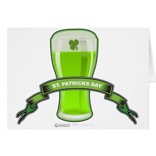 Cerveza Bannor del verde del día de St Patrick Tarjeton
