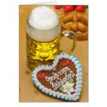 Cerveza bávara 2 tarjeta de felicitación
